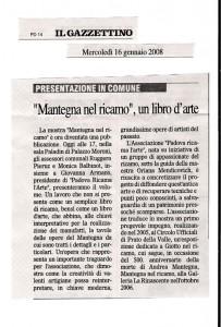 Il Gazzettino  2008 16 gennaio